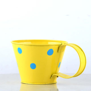 Cup Planter Polka Dot yellow – 2