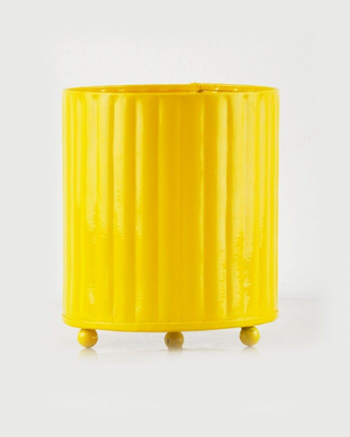 Textured Yellow Pot India - Unlimited Greens