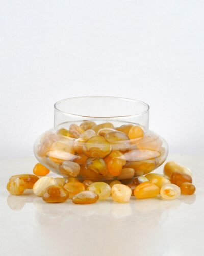 Yellow Onyx Stones, Stones for plants online India - Unlimited Greens